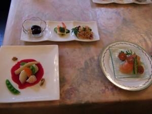 らんぶるの夕食は、和風イタリアンです一日目のティンカーベルの料理と同じく地元の野菜などを多く使われているような感じです。前菜には、群馬名産の花豆があります。すべてのお料理は、なんとオーナーの奥様による創作料理でした!一品ずつ繊細で素晴らしいです!