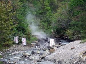 温泉の元の源泉はガスと高温で危険!立ち入り禁止区域をカメラで撮りました。