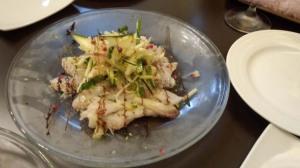 炙り太刀魚のカルパッチョ