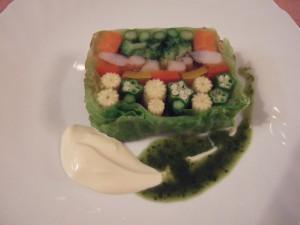私個人が一番大感動した野菜のテリーヌ!とても芸術です♫