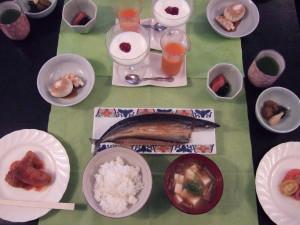 今回の朝食です。