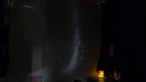 教室内にプラネタリウムコーナー☆彡ちょこっとゆったりハマる瞬間でした。