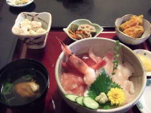 私は海鮮丼