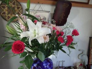 前就業先の部内社員一人一人の真心が一つとなった素晴らしい花束