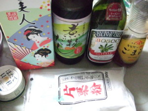 調味料:みりん・だし醤油・オリーブオイル・ごま油・片栗粉・(鶏がらスープorコンソメ)