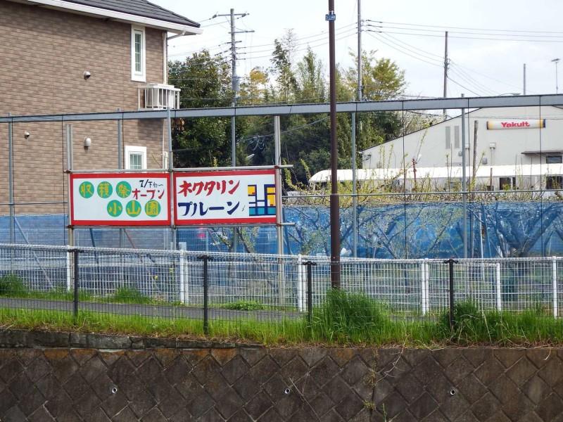 土橋付近の果実園。夏7月下旬から9月下旬くらいにかけて地元のフルーツ直売所がOPENするようです。