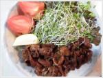 ヘルシーな豚の生姜焼き丼
