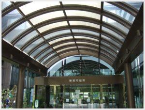 所沢市役所 出入口