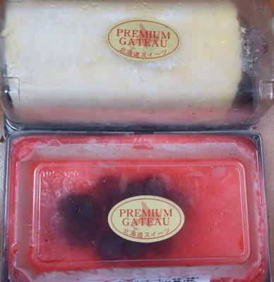 購入した冷凍ケーキ2種類
