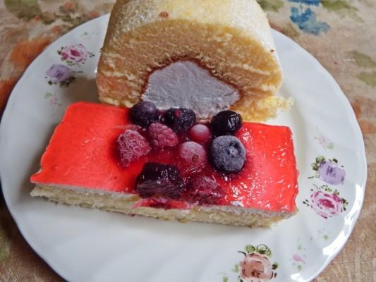 ケーキ2種類の試食