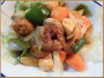 野菜と炒めてすぐ酢豚