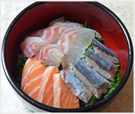 刺身すし丼のレシピ