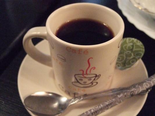 朝食のホットコーヒー