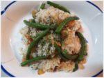小エビといんげん入り 雑穀米のガーリックピラフ レシピ