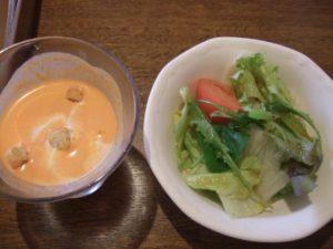 ツインカレー ライトサマーセットのサラダ&冷製スープ