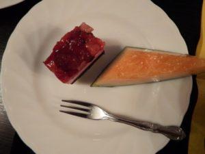 本日の夕食デザート