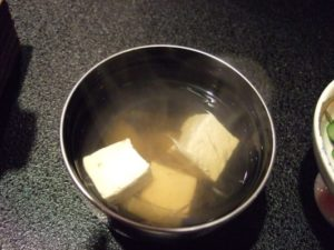 お豆腐とみょうがのお吸物
