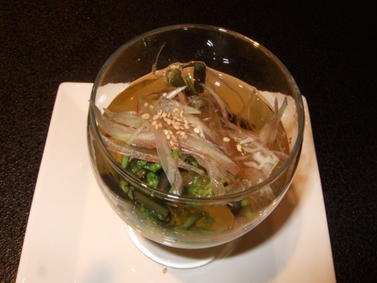 地元信州で採れるカボチャ(金糸瓜)のソーメン