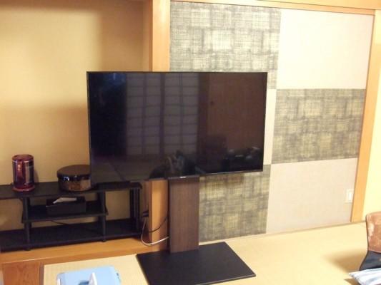 立派な大型デジタルテレビ