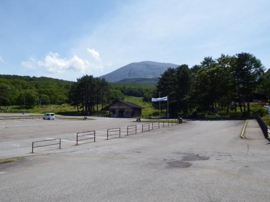 火山博物館の駐車場
