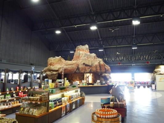 浅間山火山博物館の館内もガラガラ