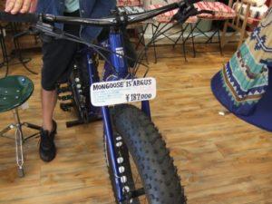 SASH!の店内に立派なマウンテンバイク
