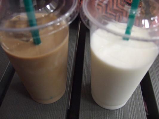風土'sFood'sで買った濃厚で美味しかった信州牛乳(私)と本格的なカフェオレ(旦那)を飲んで渇いた喉を潤しました。