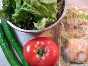 野菜&生協(加工済み)蒸し鶏