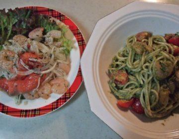 【簡単レシピ】冷製ジェノベーゼパスタ&小エビとスモークサーモンのマリネ