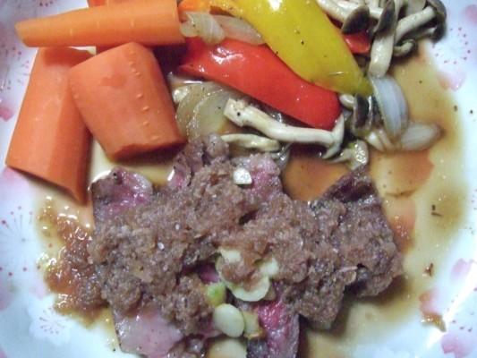 仙台黒毛和牛のステーキ