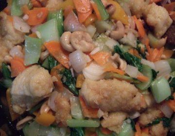 【生協(パルシステム)の簡単レシピ】鶏肉とカシューナッツの炒め