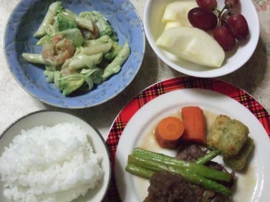 敬老の日 我が家の夕食