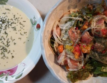 秋鮭スモークサーモンの簡単レシピ マリネ風パスタサラダ