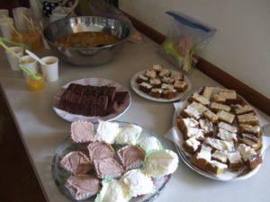 手作りケーキ&アイス