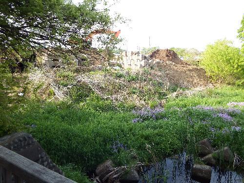 柳瀬川への合流地点