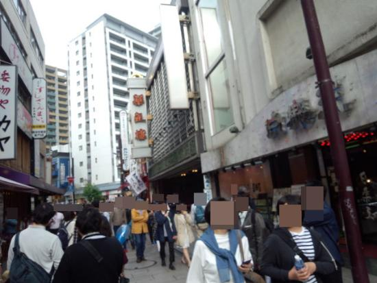 横浜中華街の人混みの様子