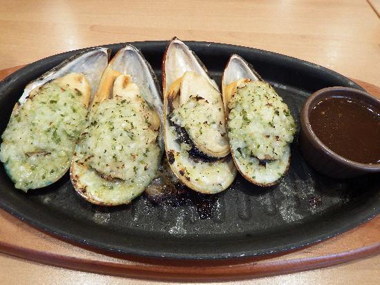ムール貝のガーリック焼き 399円
