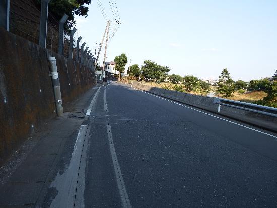 柳瀬川沿い(所沢市本郷)の道路
