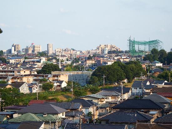 和田の森の丘より西武池袋線清瀬駅方面を望む