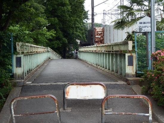柳瀬川の安松橋(東村山市秋津町)
