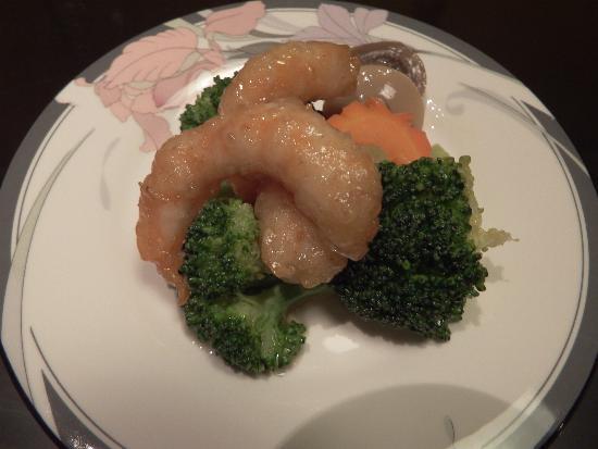 海老と緑野菜の炒め