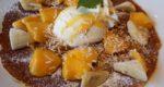 休日はファミレスでカフェ/デニーズのマンゴーデザートを食べてみて