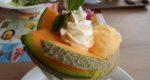 休日の午後はファミレスでカフェ:デニーズの甘いメロンデザート